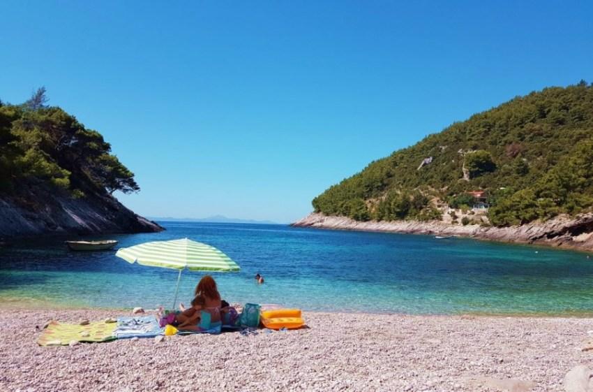 Plaža Bačva, island Korčula