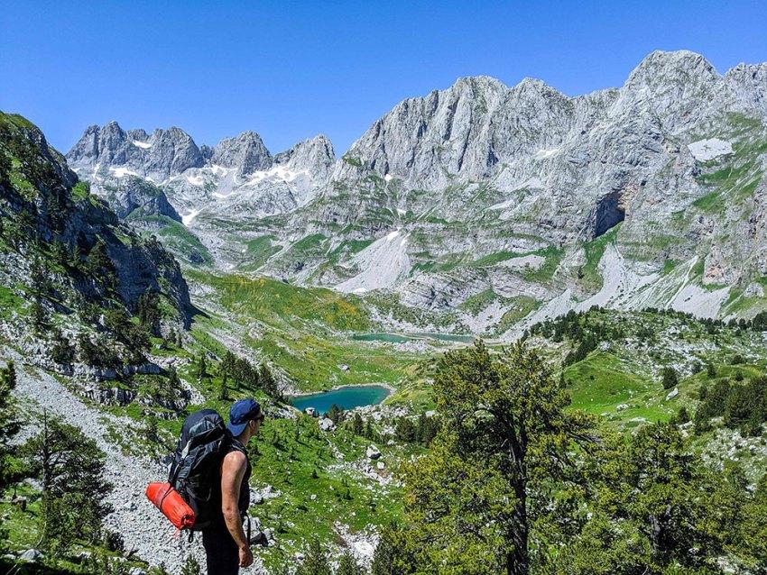 Jezerca Mountain in Albania