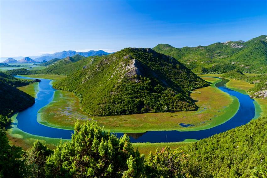 Skadar lake on Peaks of the Balkans trail