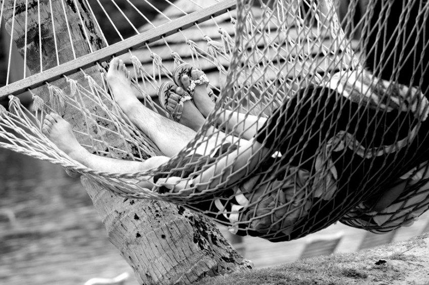 Pauza in a hammock