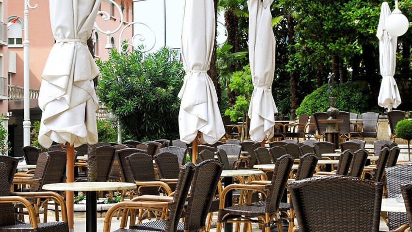 Closed caffe bar in Croatia