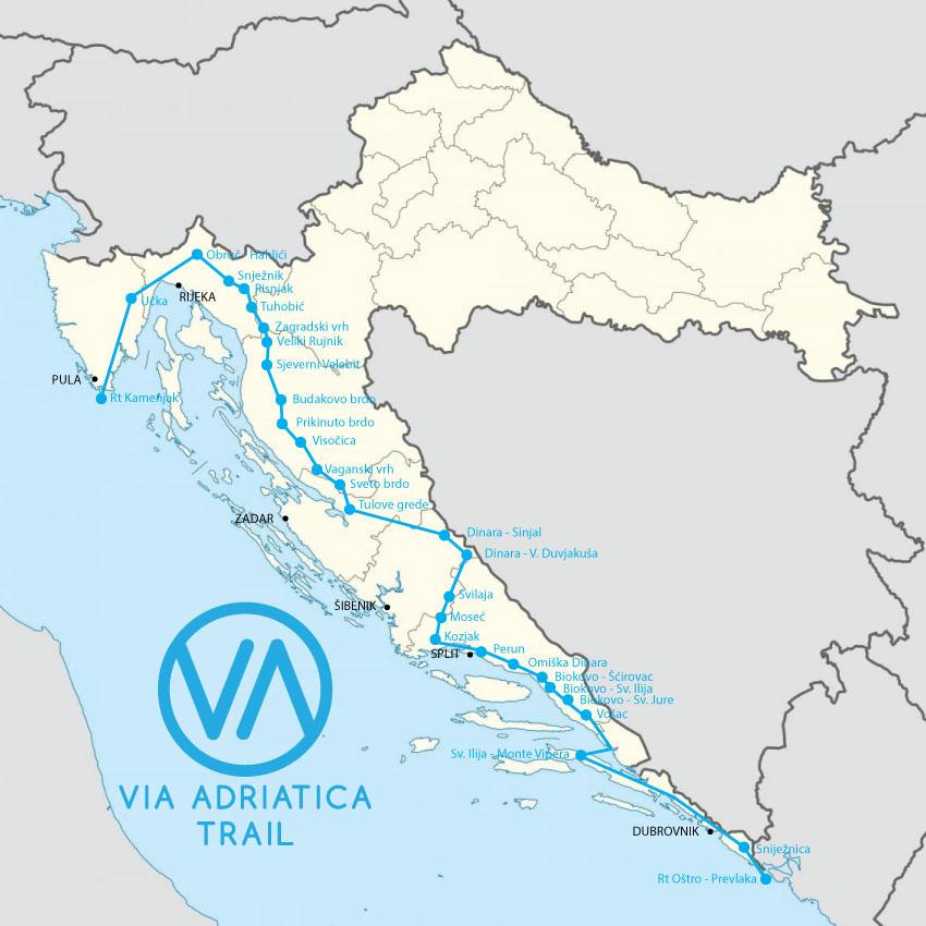 Via Adriatica Trail Map