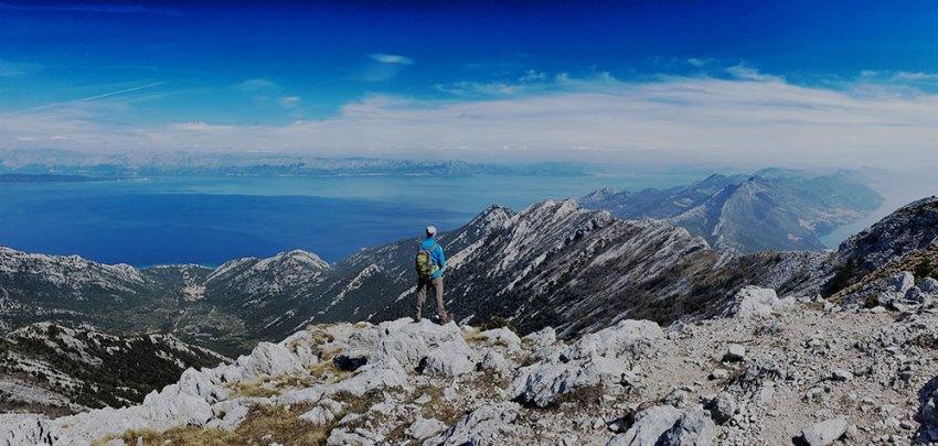 View from Via Adriatica Trail in Croatia