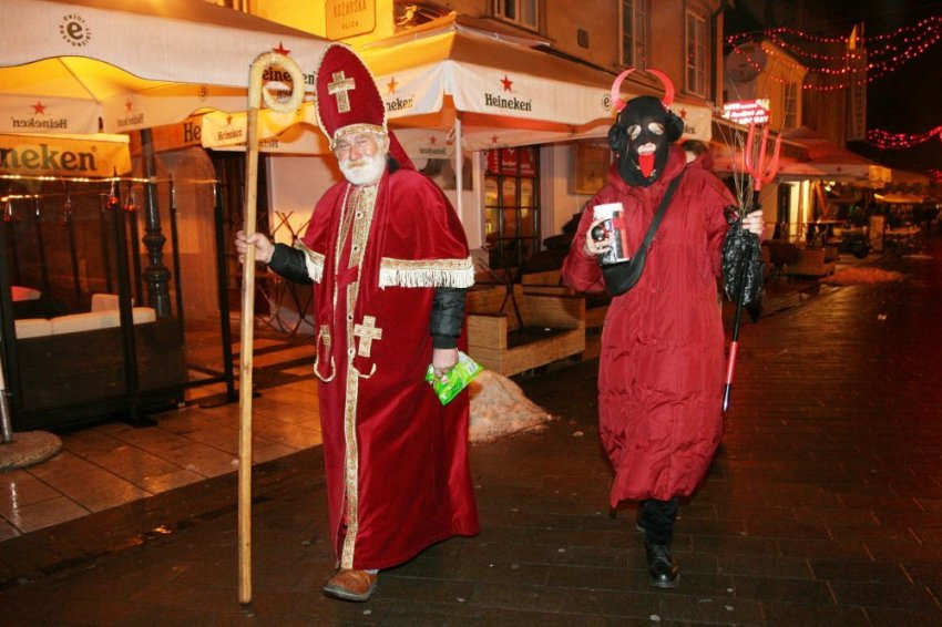 Sveti Nikola (Saint Nicholas) and Krampus in Croatia