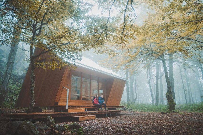 Mountain shelter Miroslav Hirtz in Croatia