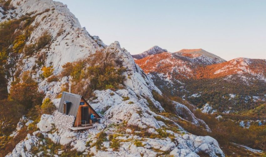 Ždrilo mountain shelter in Croatia