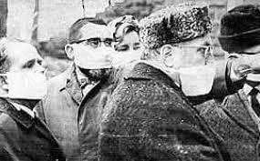 People wearing masks during Yugoslav smallpox epidemic