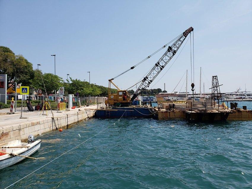 Construction in Split, Croatia