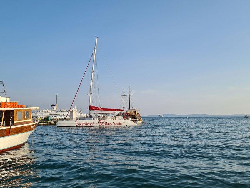 Summer Blues catamaran in Split, Croatia