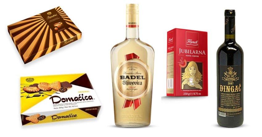 Gifts you can give a Croatian - Franck coffee, Bajadera chocoaltes, Badel rakija