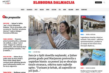 Expat in Croatia and Sara Dyson in Slobodna Dalmacija