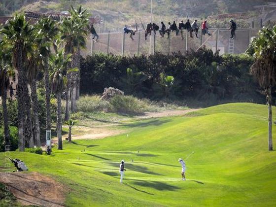 josé palazón foto del campo de golf en melilla