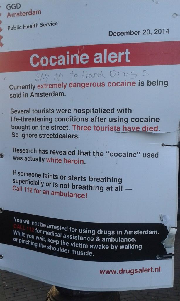 cocaine alert amsterdam