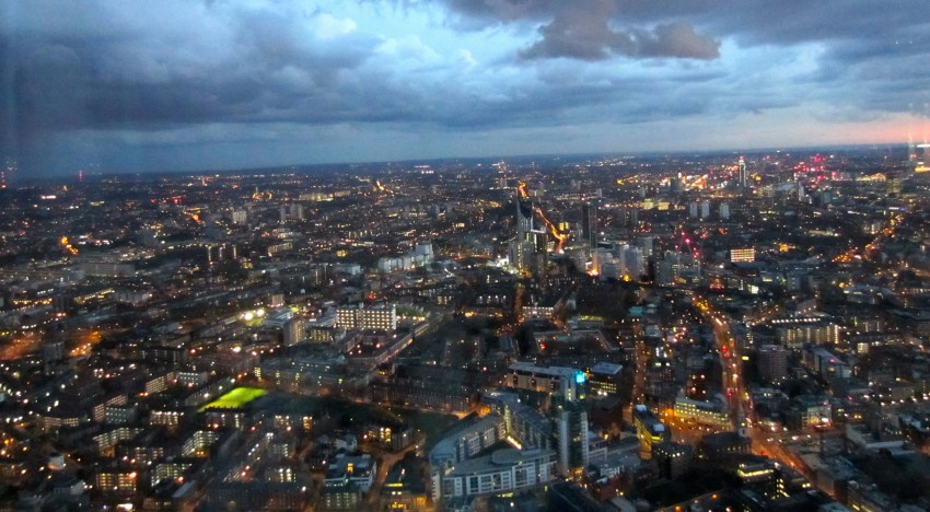 view from the shard in london: adventures in the UK