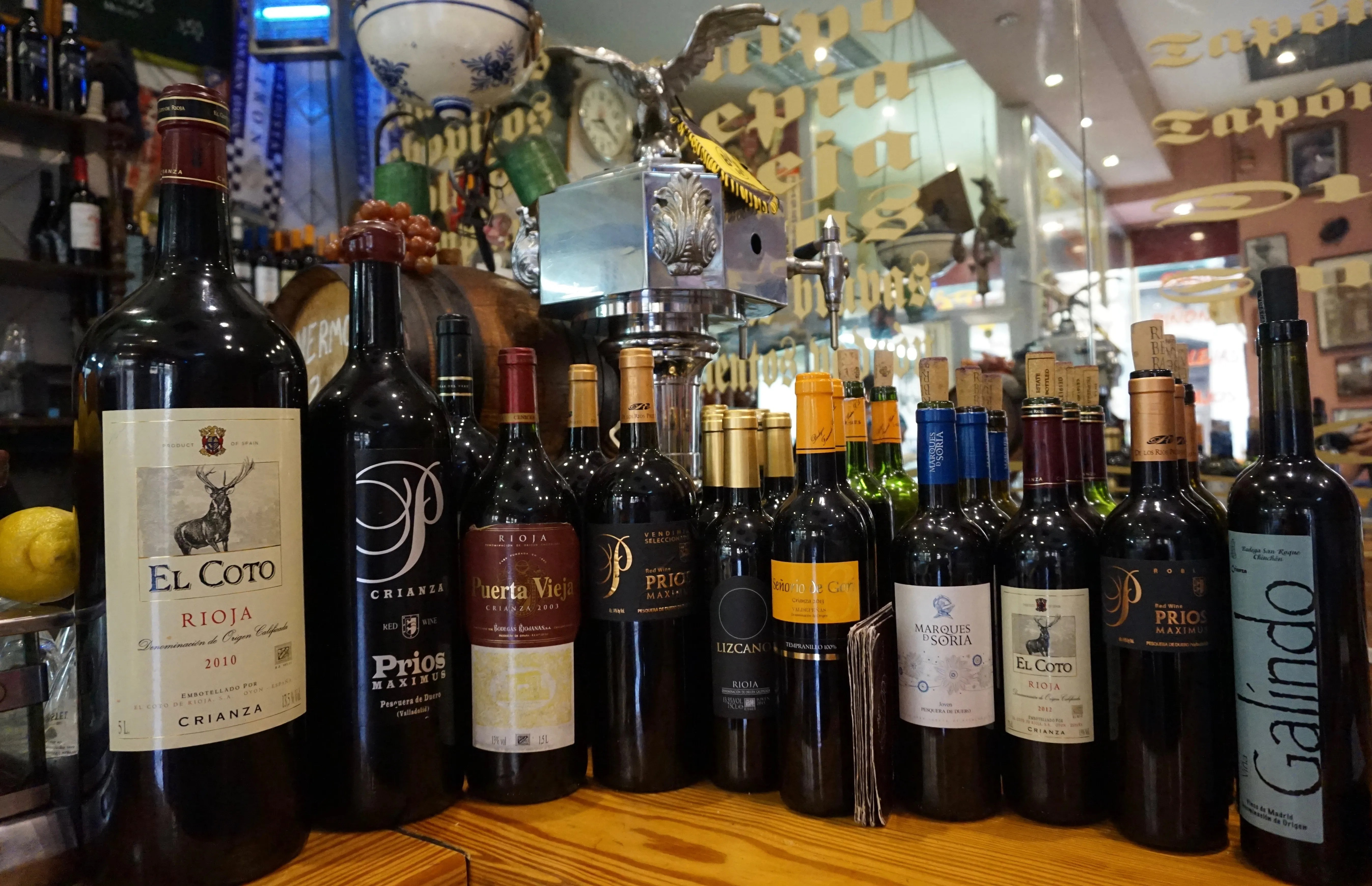 wines from Madrid at Casa Toni in Huertas