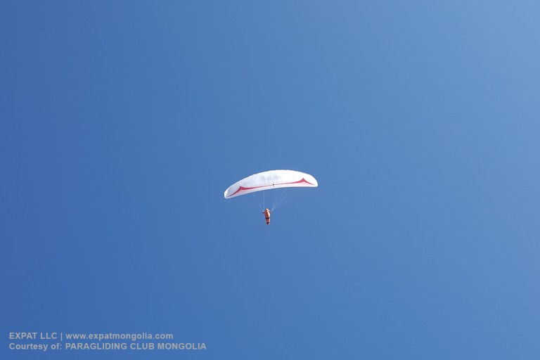 paraglider in open skies