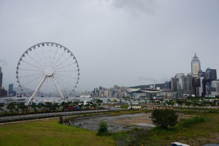 Ferris wheel and Hong Kong