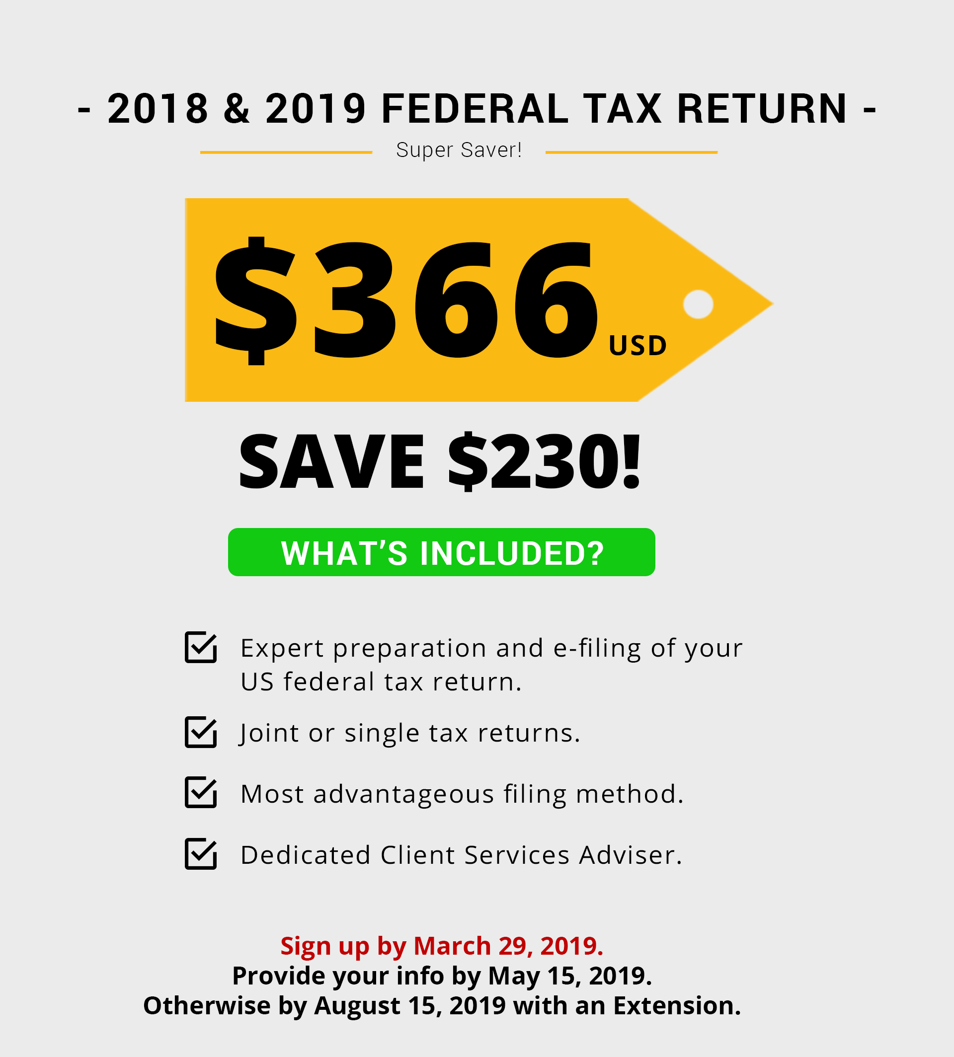 Federal Tax Return For Amp