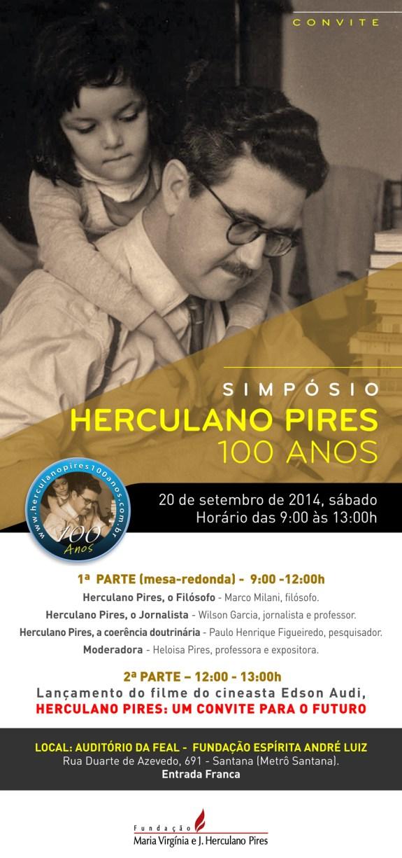 SIMPÓSIO HERCULANO PIRES 100 ANOS _ CONVITE
