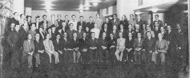 Foto histórica. Ano: 1939. Local: ABI, Associação Brasileira de Imprensa. Evento: instalação do I Congresso Brasileiro de Jornalistas e Escritores Espíritas, em 15 de novembro.