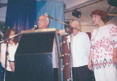 Jorge Rizzini no 1o. Festival da Poesia Mediúnica, realizado na sede da Federação Espírita de São Paulo em 3 de dezembro de 1995.