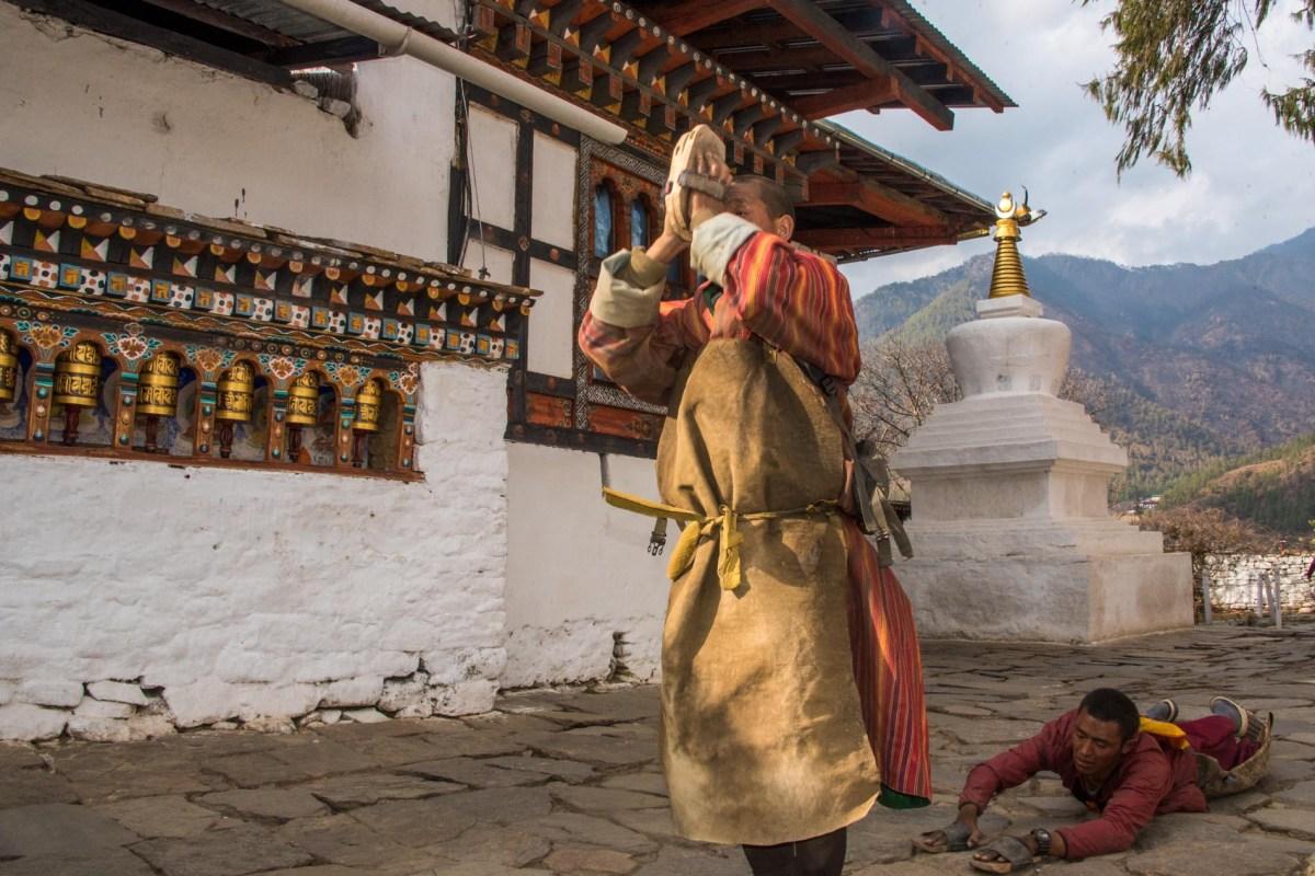 Bhutani monk