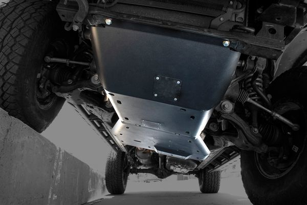 3rd gen toyota tacoma front ultra hd skid plates complete system by expedition one