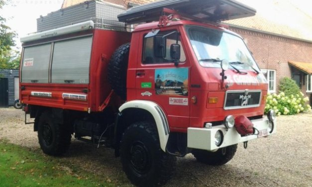 SOLD – MAN 8.136 4X4 – Awesome expedition Camper Base/catering Vehicle – Belgium – €11,000