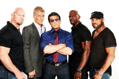 dolph lundgren, terry crews, randy couture, sylvester stallone