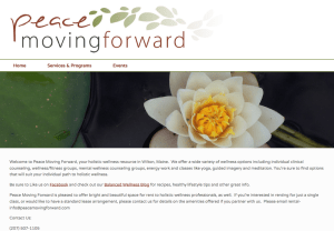 Peace Moving Forward Website Screenshot