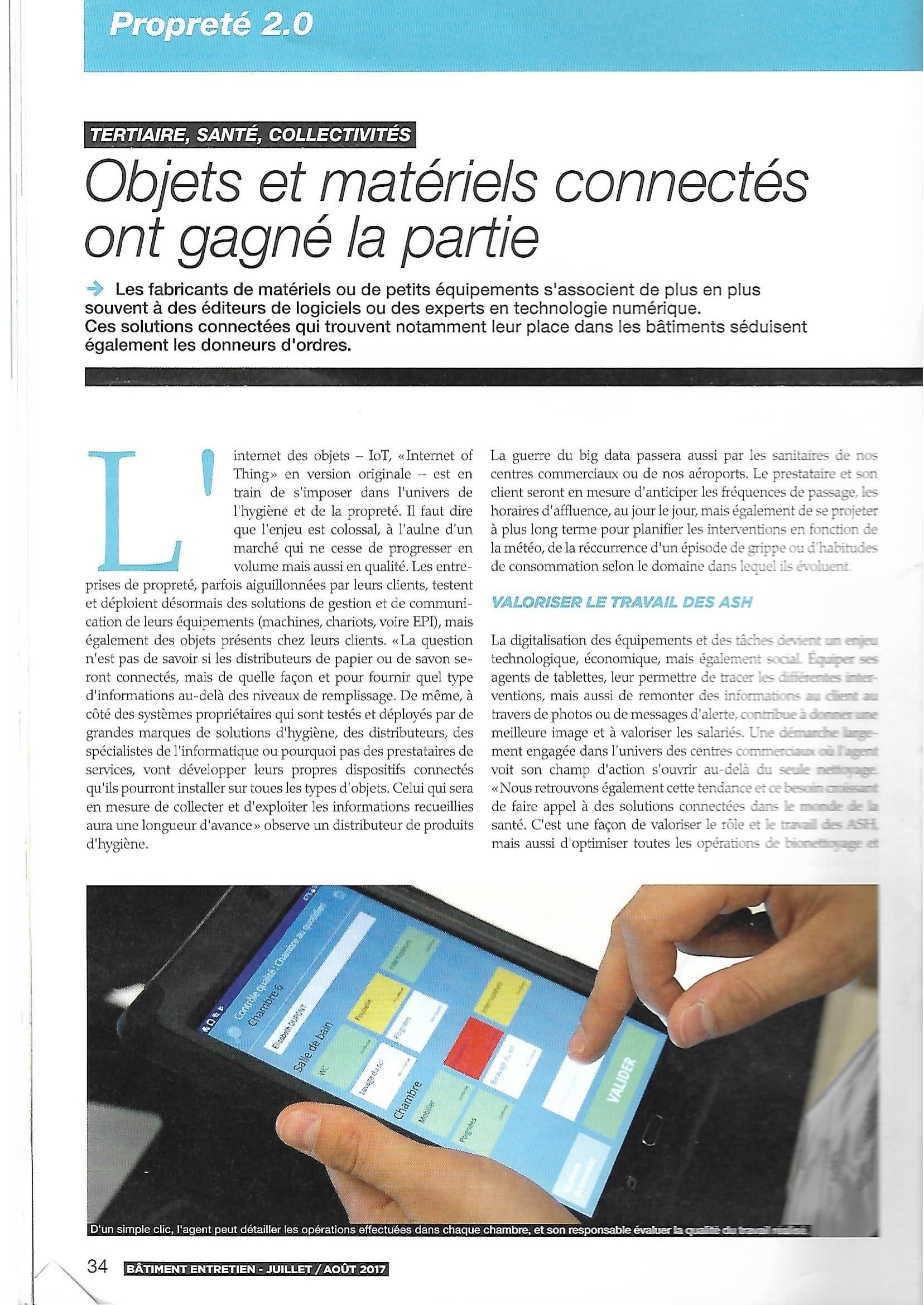 Article SASHA Magazine Batîment Entretien