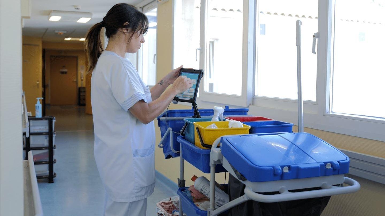 solution application logiciel tablette ménage nettoyage bionettoyage ehpad clinique hôpital societe entretien planning traçabilité suivi gestion organisation