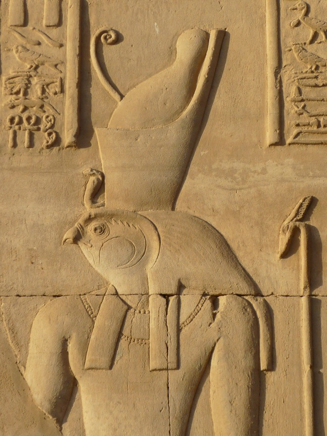 Egyptian God Horus the Elder at Kom Ombo
