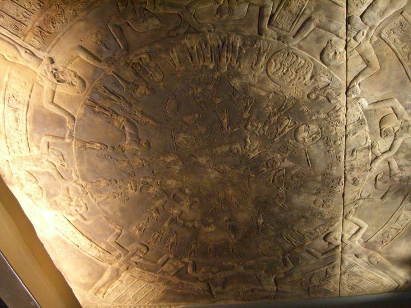 Ancient Egyptian Zodiac Signs from the Dendera Zodiac at the Louvre