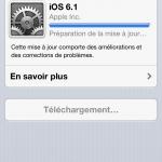 iOs 6.1 est enfin là