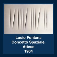 Lucio Fontana - Concetto Spaziale. Attese, 1964