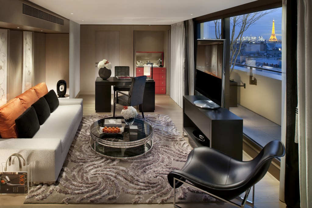 La suite Panoramic au madarin Oriental (source : Mandarin Oriental Paris)