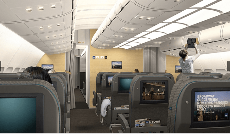 SAS long haul cabin refresh 2015 SAS Plus