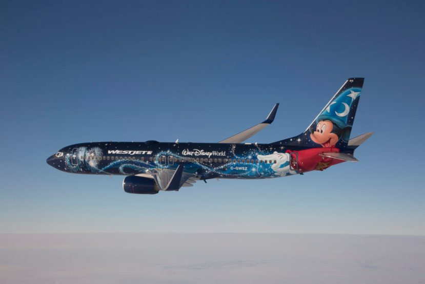 WestJet Boeing 737 Magic Plane