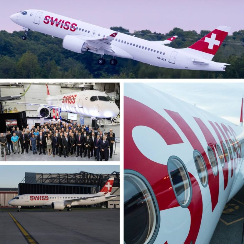 Swiss International Air Lines CS300 Delivery
