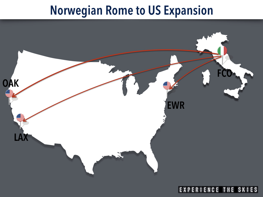 Norwegian Rome US Expansion