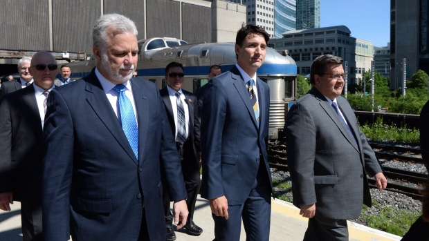 Trudeau Visits Montreal Station For REM Funding Announcement