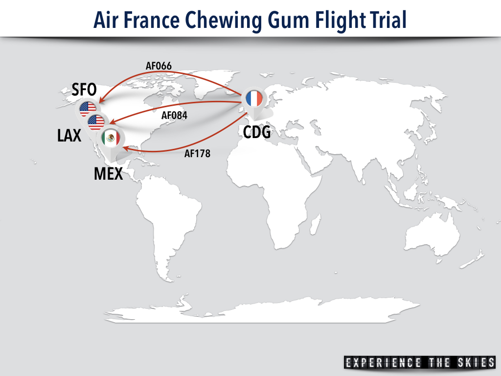 Air France Chewing Gum Flight Trial