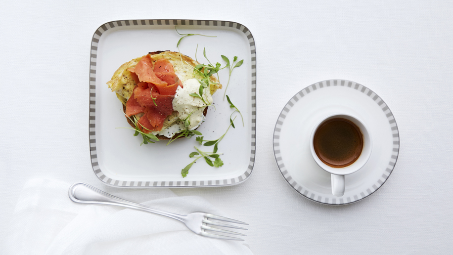 Singapore Airlines Canyon Ranch Lox Eggs Benedict