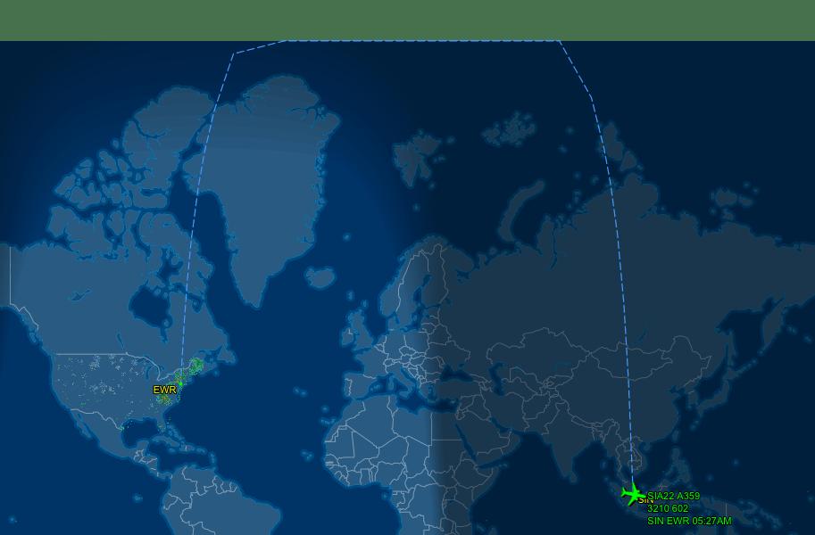 SQ22 (Singapore to Newark)