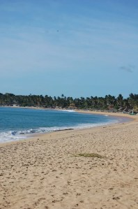 The course sand and waves of Arugam Bay