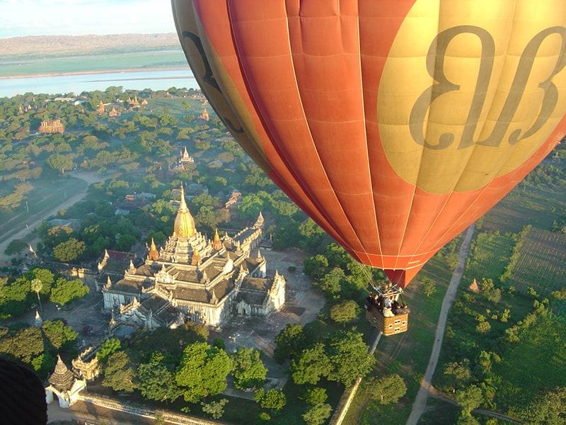 Hot Air Balloon over Bagan, Myanmar
