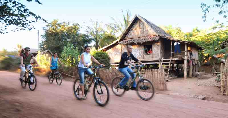 Cycling in Laos, Southeast Asia