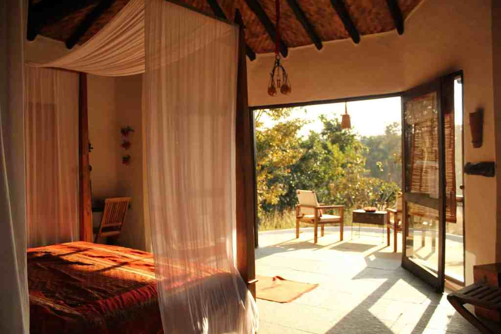 Flame of the Forest lodge in India
