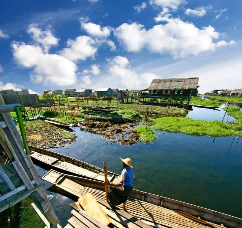 Life on water, settlement on the Inle Lake, Burma (Myanmar)